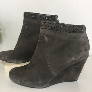 Aerin Shorbold Suede Ankle Boot Laser Cut 7 1/2